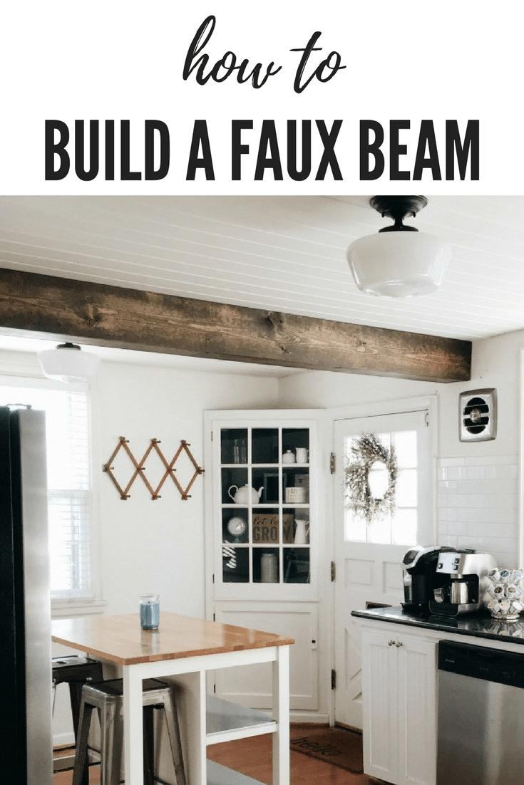 Faux Beam, Faux Wood Beam, Faux Beam Ceiling Diy, Faux Beam Ceiling Diy