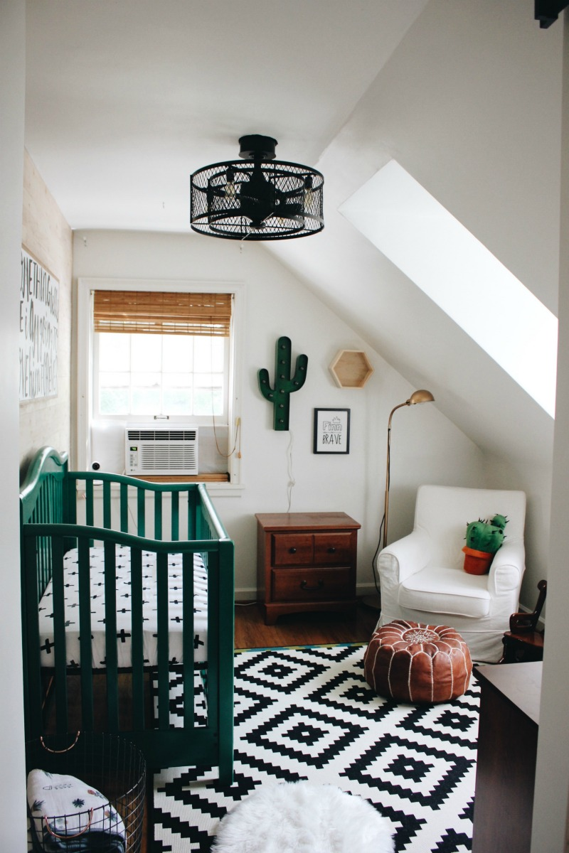 Baby Boy Room Mural Ideas: Cactus Baby Nursery Reveal!