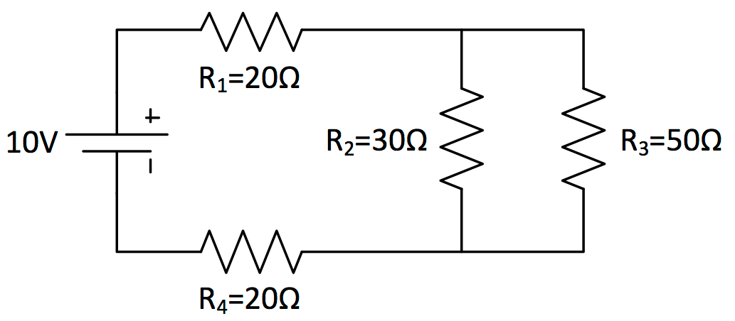any combination circuit simplify it down to a single series circuit