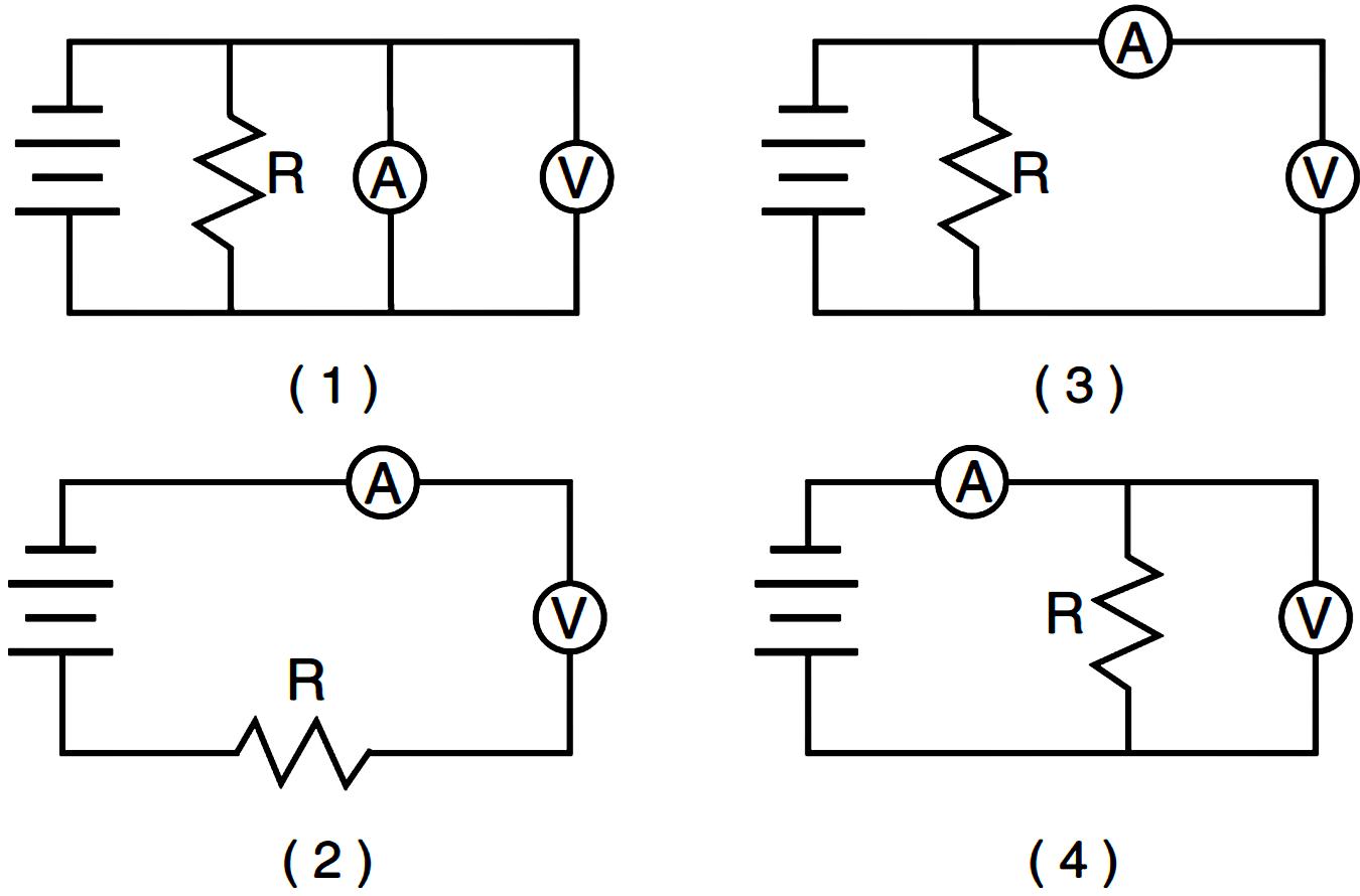 circuit diagram voltmeter ammeter
