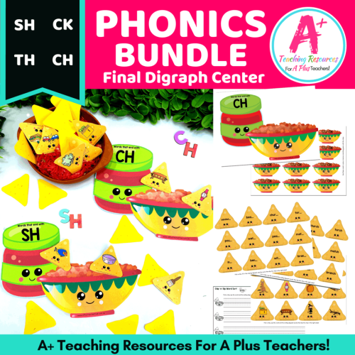 small resolution of Digraphs Literacy Resources {Final SH-CH-CK-Th Sounds} – A+