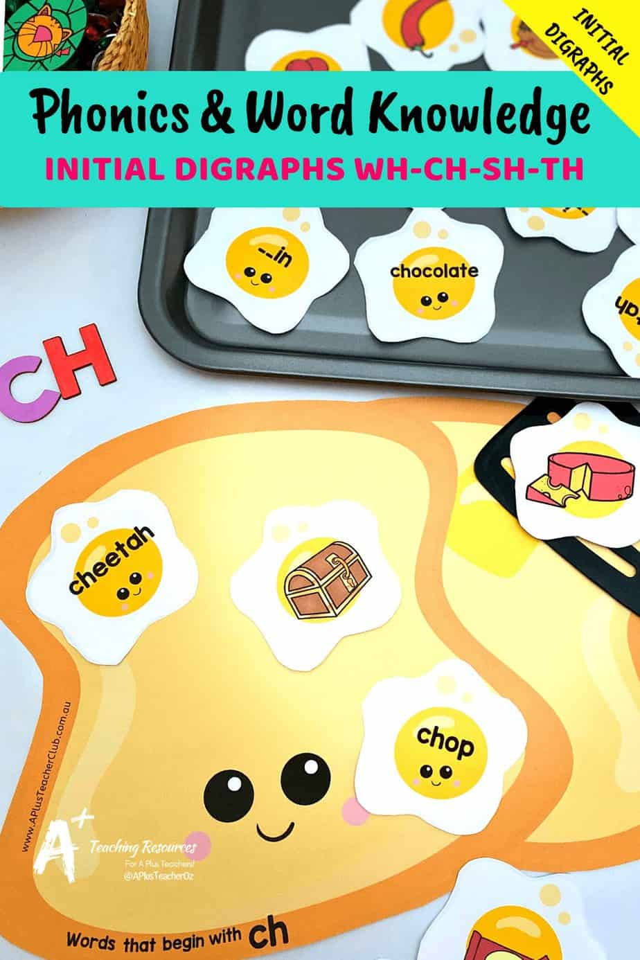 hight resolution of Initial Digraphs Literacy Resource {SH-CH-WH-Th} – A+