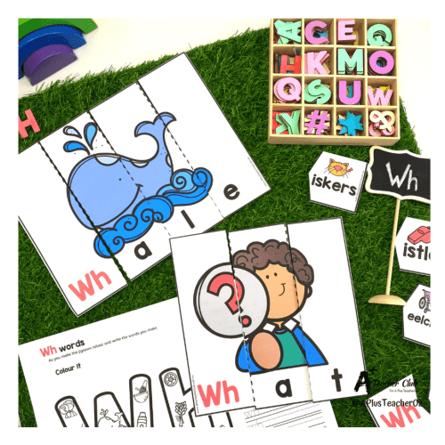 small resolution of Initial Digraph Puzzles Literacy Resource BUNDLE {SH-CH-WH-Th} A+