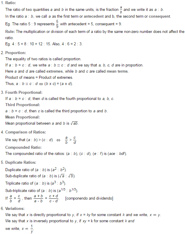 Ratio and Proportion RS Aggarwal Class 7 Maths Solutions Exercise 8A