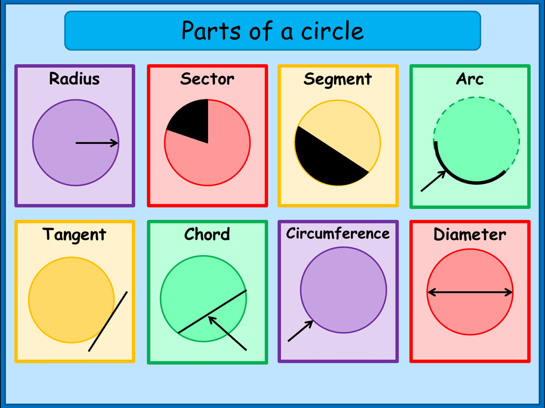 what are the parts of a circle a plus topper