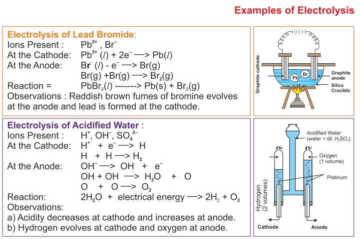Icse Solutions For Class 10 Chemistry Electrolysis A