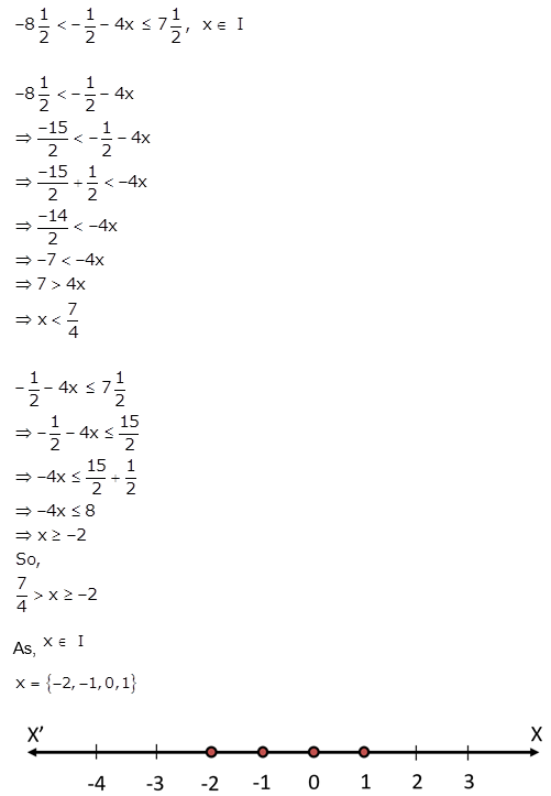 Selina Concise Mathematics Class 10 ICSE Solutions Linear Inequations (in one variable) q37