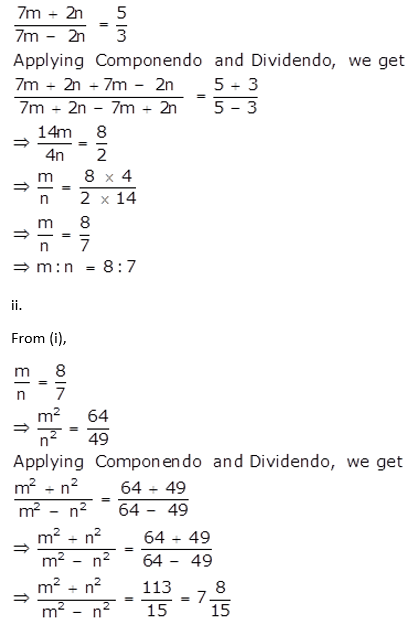 Selina Concise Mathematics Class 10 ICSE Solutions Ratio and Proportion (Including Properties and Uses) ex 7d q26