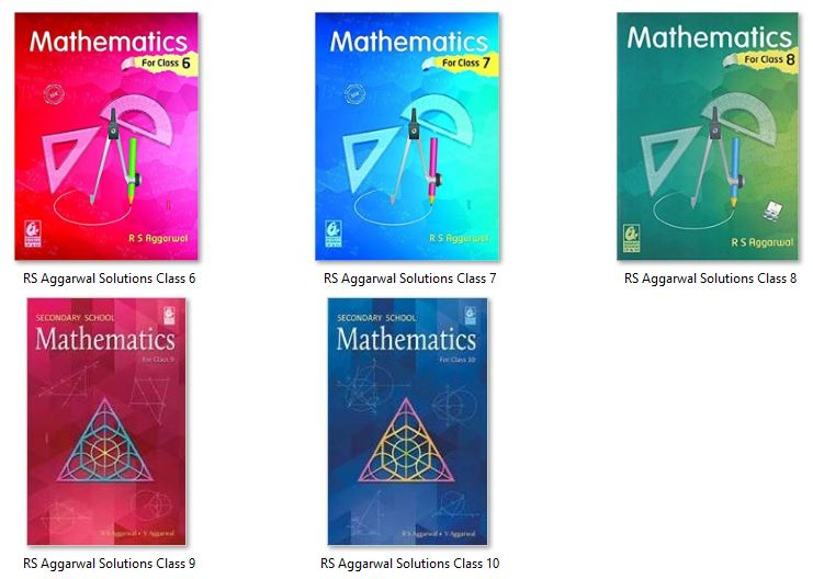 RS Aggarwal Solutions 2018 Edition from Class 6 to 10