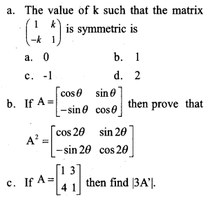 Plus Two Maths Previous Year Question Paper March 2017 Q3