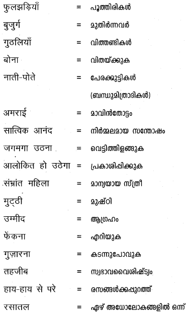 Plus One Hindi Textbook Answers Unit 3 Chapter 9 आनंद की फूलझडियाँ 9