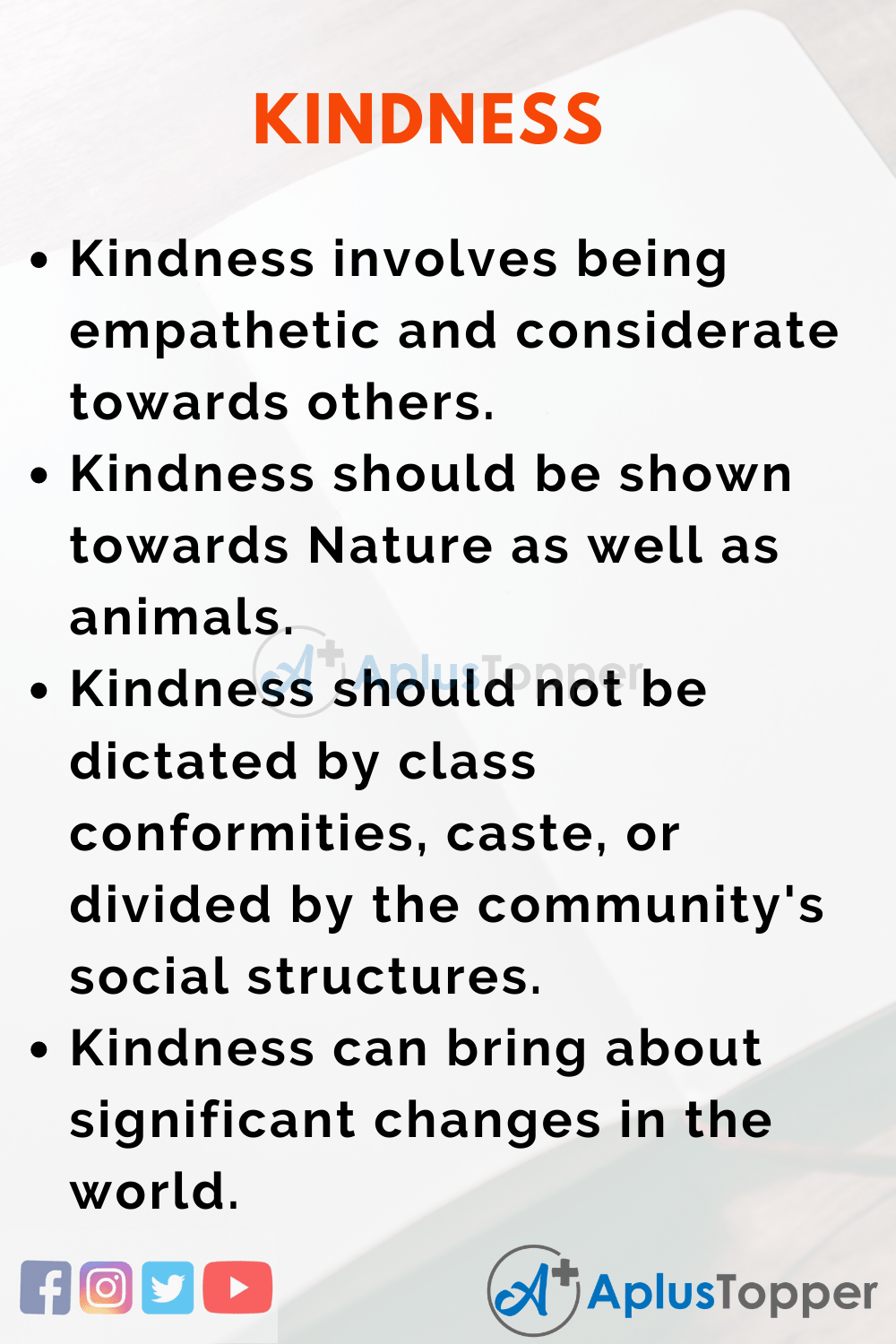 Essay about Kindness