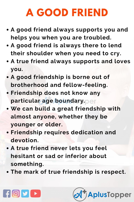 Essay on A Good Friend