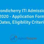 Pondicherry ITI Admission