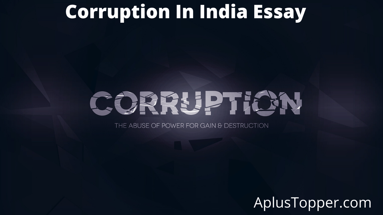 Essay corruption in india