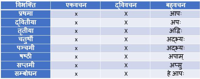 AP Shabd Roop In Sanskrit