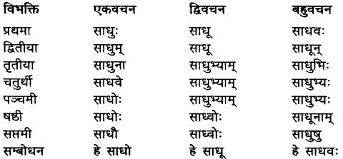 Sadhu Shabd Roop In Sanskrit