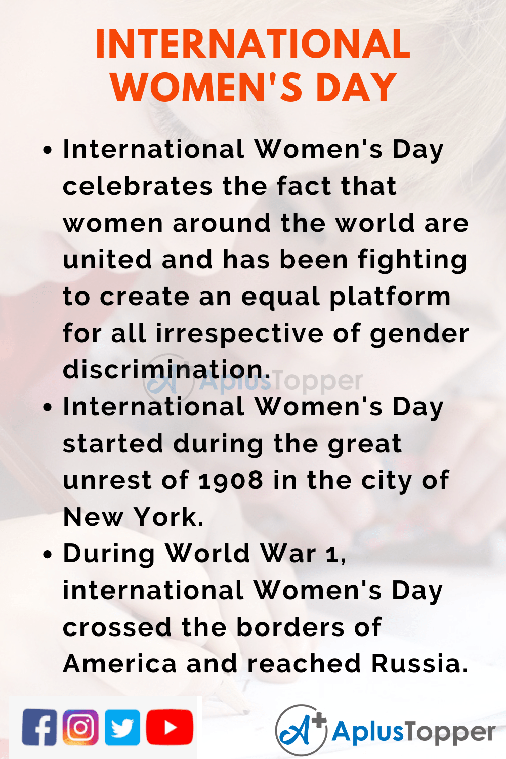 10 Lines about International Women's Day