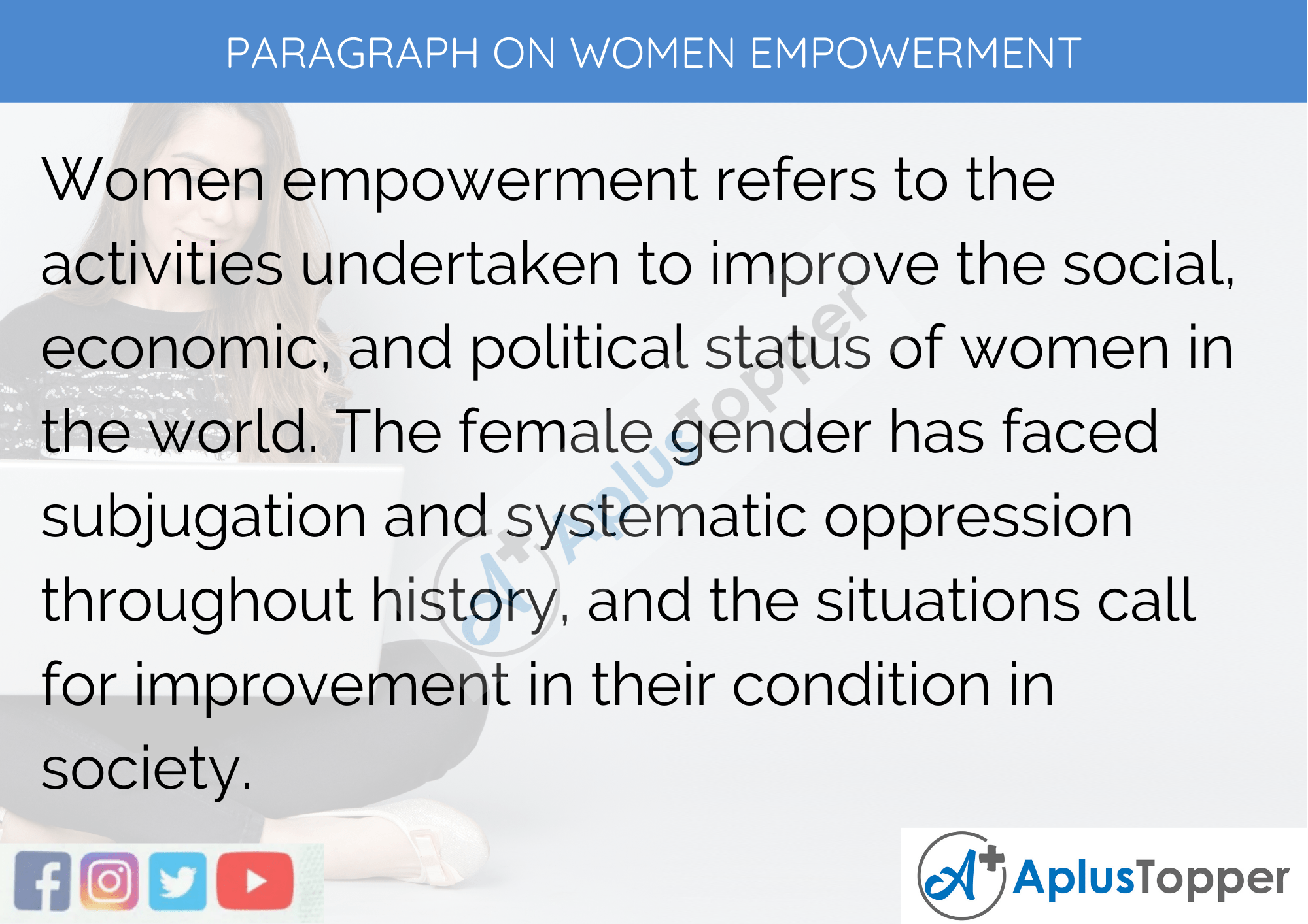 Paragraph On Women Empowerment - 100 Words for Classes 1, 2, 3 Kids