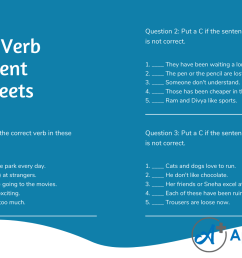 Subject Verb Agreement Exercises for Class 9 ICSE With Answers - A Plus  Topper [ 1080 x 1920 Pixel ]