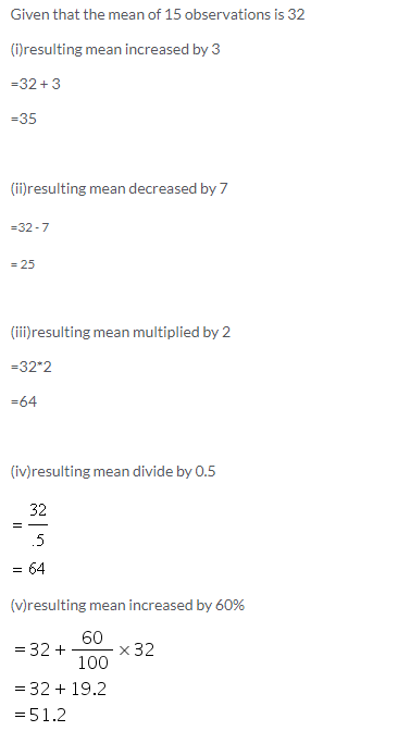 Selina Concise Mathematics Class 9 ICSE Solutions Mean and