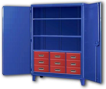 Storage Cabinets with Nine Drawers Big Blue Storage Cabinet