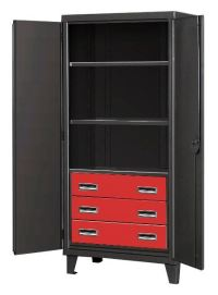 Black Tie Cabinets With Heavy Duty Drawers | Storage Cabinet