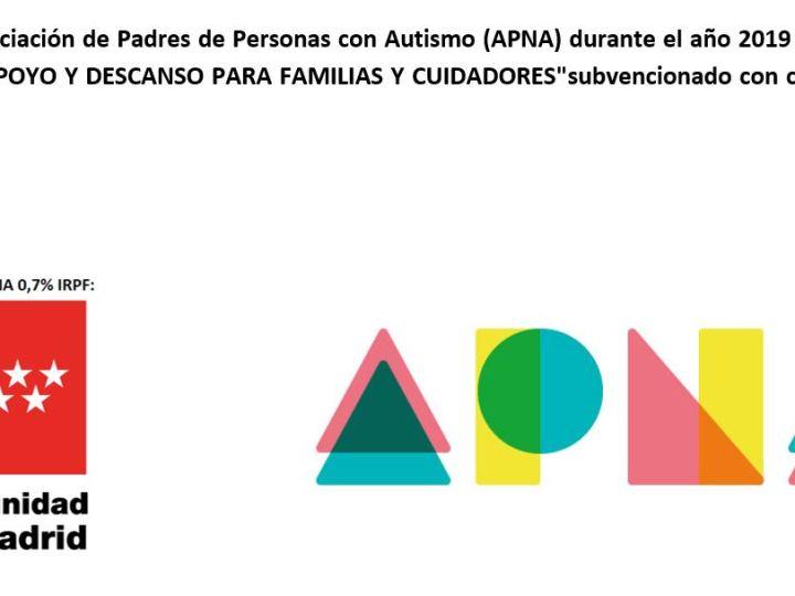 El Proyecto «APOYO Y DESCANSO PARA FAMILIAS Y CUIDADORES» subvencionado con cargo al 0,7% del IRPF