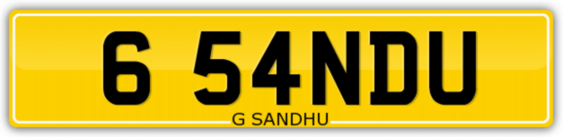 Sandhu number plate for sale