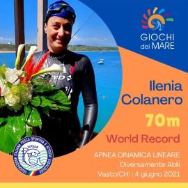 Fantastica Ilenia Colanero: centrato il record mondiale in apnea a Punta Penna