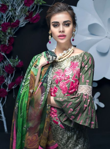 Zainab Chottani Luxury Lawn Collection 2018 08 LOVE FROM BAHAMAS – A