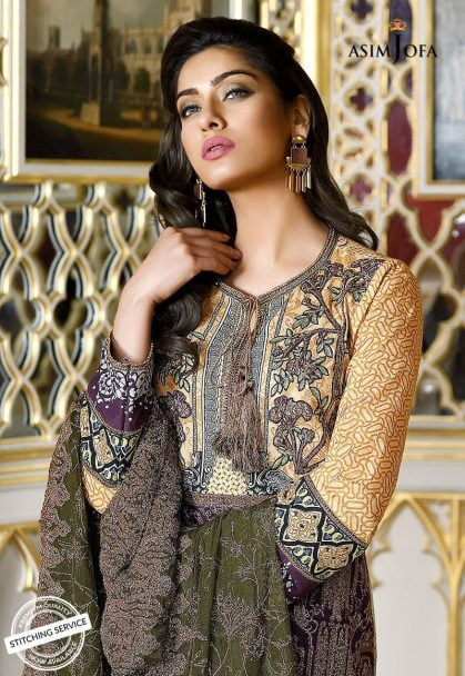 Asim Jofa Luxury Lawn Collection 2018 11B