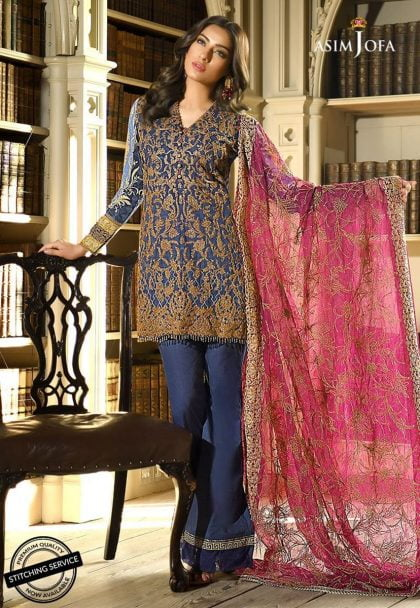 Asim Jofa Luxury Lawn Collection 2018 12A
