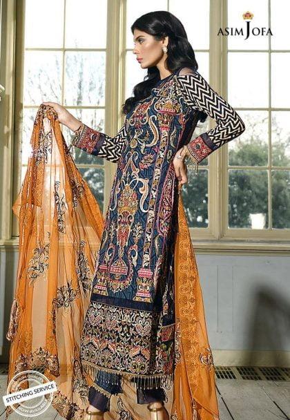 Asim Jofa Luxury Lawn Collection 2018 10B