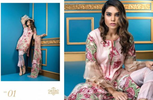 Al Dawood Satin Stiches Exclusive Embroidered Collection 2018 01