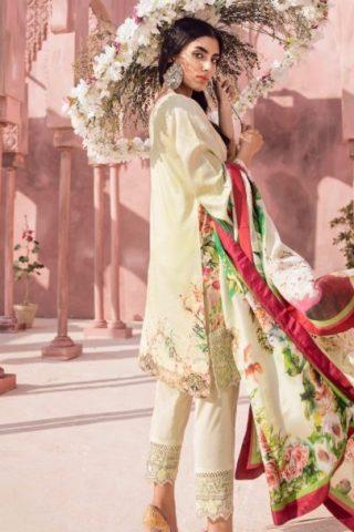 Tena Durrani Luxury Lawn 2018 ROSA BAGH GREEN 14B