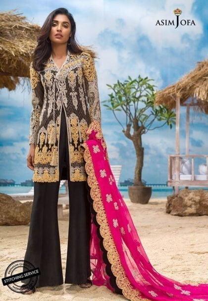 Asim Jofa Luxury Chiffon Eid Collection 2018 02B