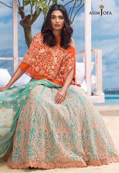 Asim Jofa Luxury Chiffon Eid Collection 2018 05B