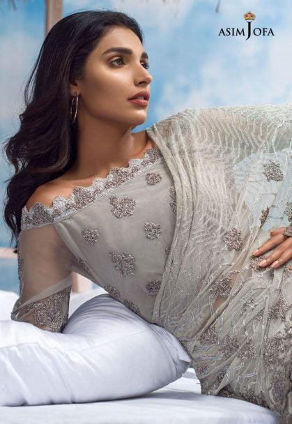Asim Jofa Luxury Chiffon Eid Collection 2018 06A