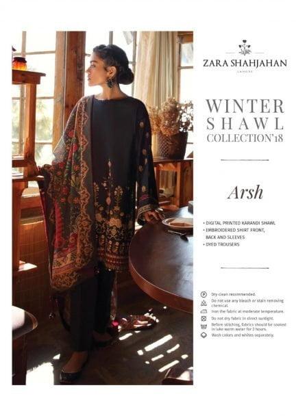 ZARA SHAHJAHAN LUXURY SHAWL COLLECTION 2018 ARSH 01