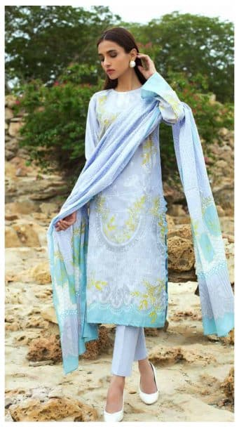 Gul Ahmed Malmal Volume 2 Collection 2019 CL-540A