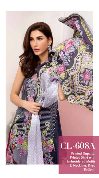 Gul Ahmed Malmal Volume 2 Collection 2019 CL-608A