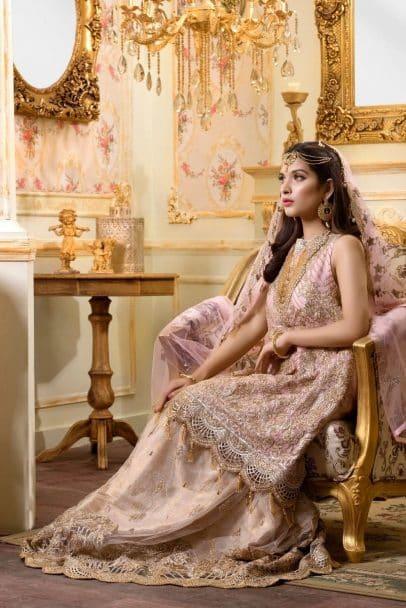MARYUM N MARIA SHAMROCK LUXURY CHIFFON COLLECTION 2019 Bejeweled Moghul (MMS-710)