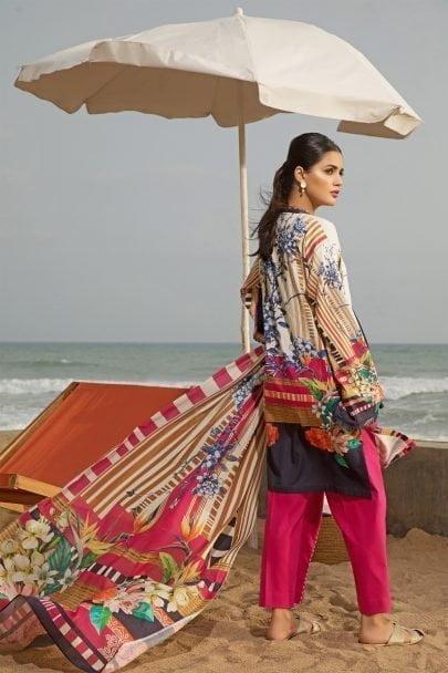 Firdous Vintage Tropical 2019 Mid Summer Cotton Collection FVT-05B