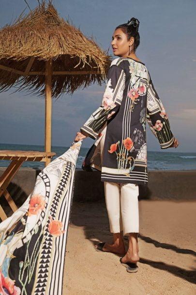 Firdous Vintage Tropical 2019 Mid Summer Cotton Collection FVT-08A