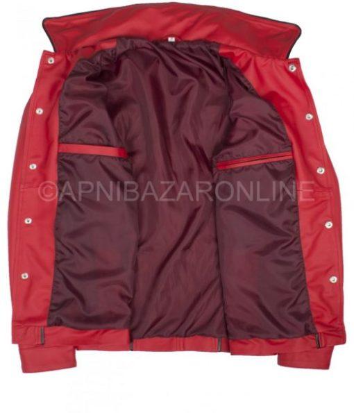 Mens Red Jacket – King Of Rock Elvis Presley Inspired Wear Genuine Leather DMLJ-17