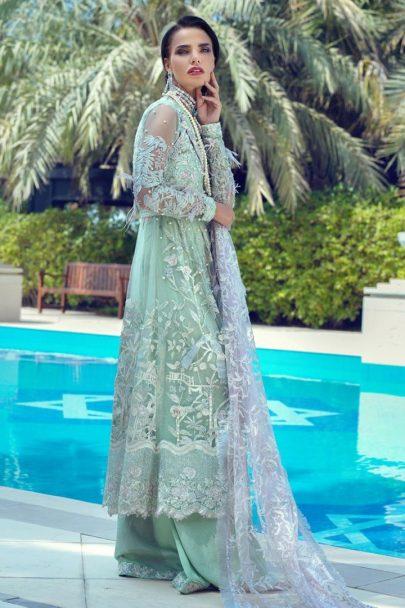 Mushq Luxury Wedding Collcection Unstitched 3 pcs Suit MLW19-08 HEMLOCK