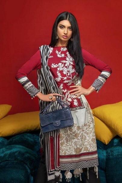Sana Safinaz Muzlin Summer Collection Unstitched 3 Piece Suit SSM20 06A Lawn Collection