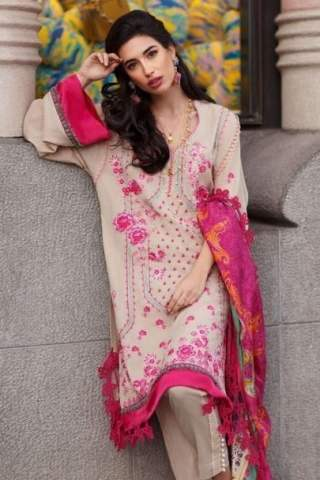 Farah Talib Aziz Luxury Lawn Unstitched 3 Piece Suit FTAL20-07 Lawn Collection