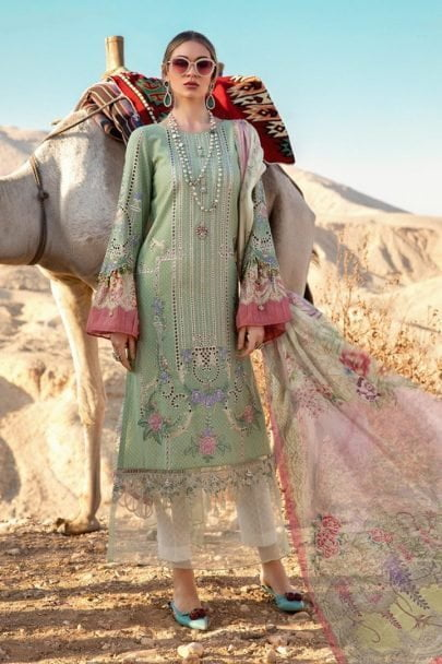 Maria B Luxury Lawn Unstitched 3 Piece Suit MBL20-2013A Lawn Collection